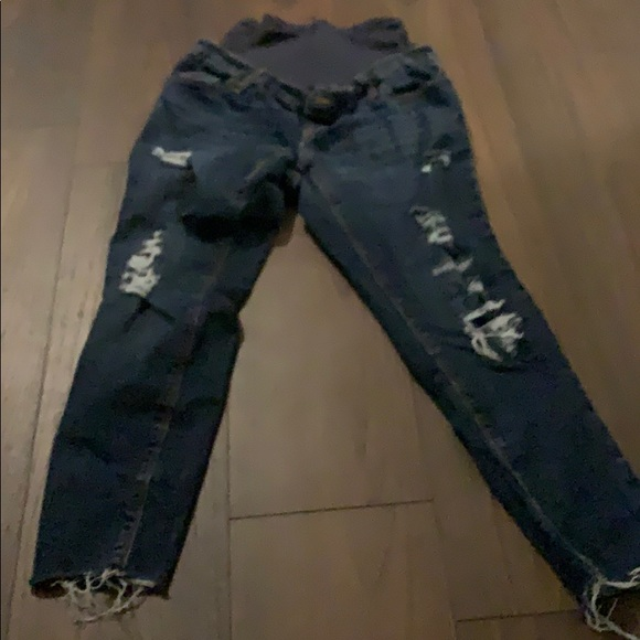 Old Navy Denim - Destressed maternity jeans